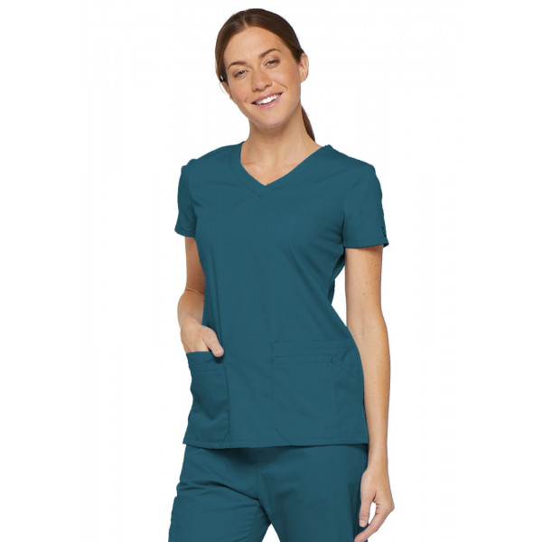 "Blouse médicale Col V Femme, Dickies, 2 poches, Collection ""EDS signature"" (85906) vert caraibe"