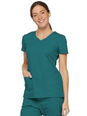 "Blouse médicale Col V Femme, Dickies, 2 poches, Collection ""EDS signature"" (85906) teal blue"