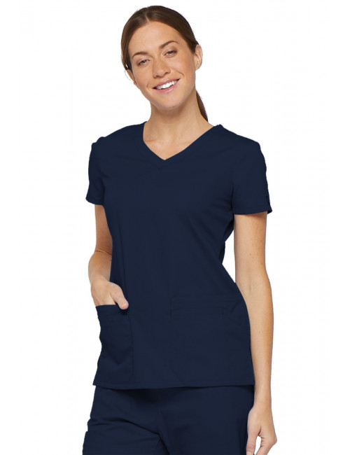 "Blouse médicale Col V Femme, Dickies, 2 poches, Collection ""EDS signature"" (85906)"