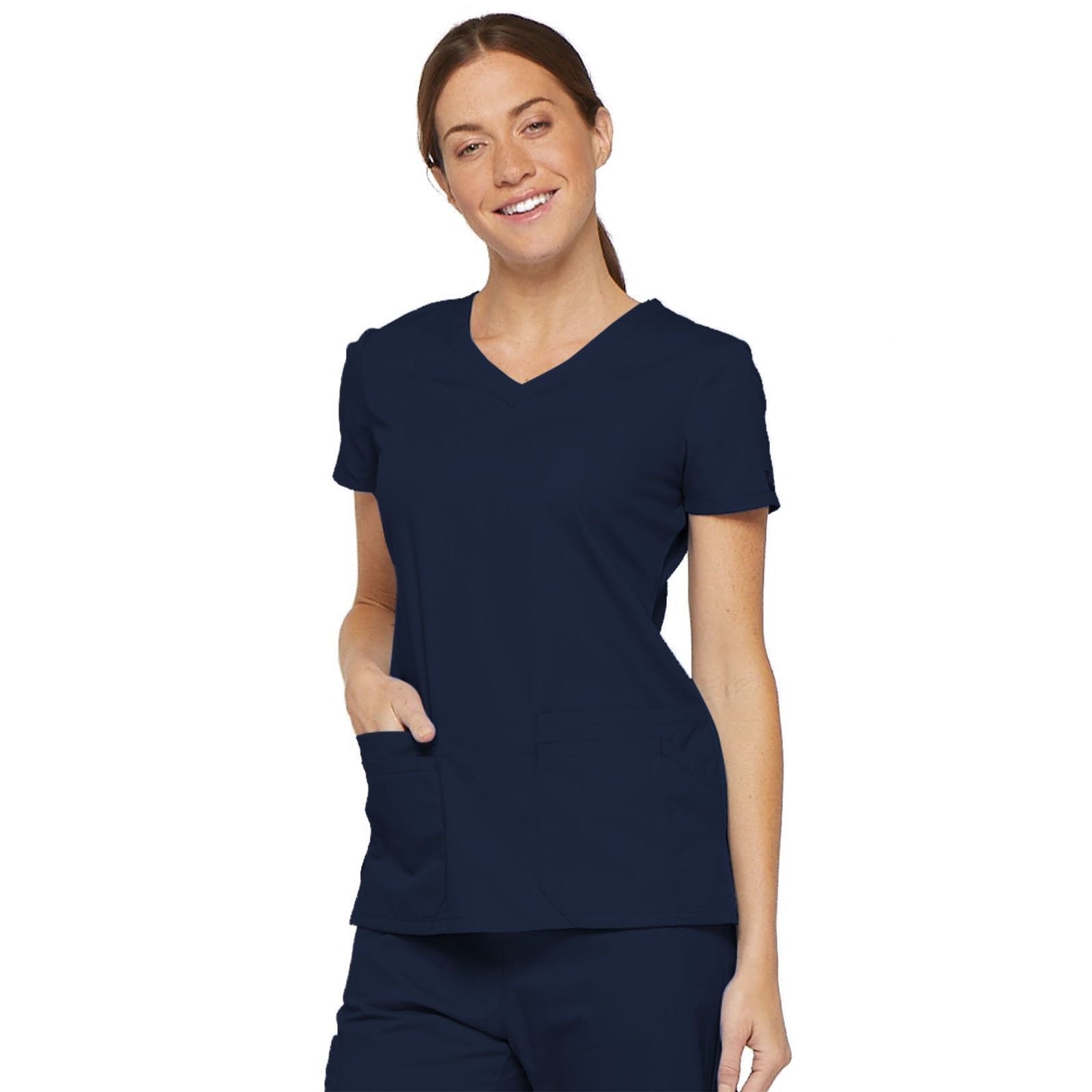 "Blouse médicale Col V Femme, Dickies, 2 poches, Collection ""EDS signature"" (85906) bleu marine"