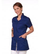 Blouse Médicale Bleu marine, Femme, Fermeture éclair, Camille Lavandie (2617COM) poche
