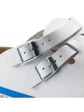 Sabots médicaux Blanc Birkenstock (Kay), vue boucles