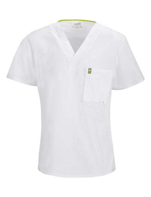 Anti-stain and antimicrobial V-neck man, Code Happy (16600AB)