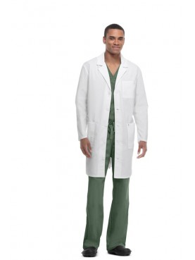 Lab Coat Anti-tâches et Antimicrobien Unisexe, Code Happy (36400AB)