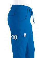 "Pantalon médical Femme Koi ""Lindsey"", collection ""Koi Stretch"" (710-) bleu royal détail"
