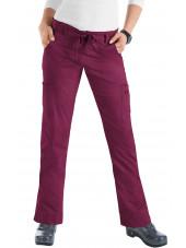 "Pantalon médical Femme Koi ""Lindsey"", collection ""Koi Stretch"" (710-) bordeaux face"