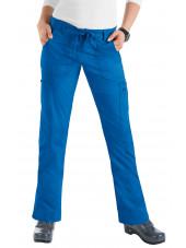 "Pantalon médical Femme Koi ""Lindsey"", collection ""Koi Stretch"" (710-) bleu royal face"