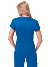 "Blouse médicale Femme Koi ""Mackenzie"", collection ""Koi Stretch"" (204-) bleu royal dos"