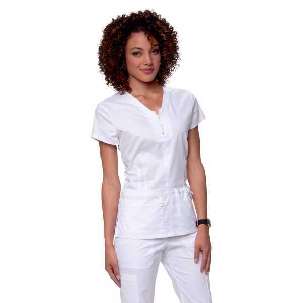 "Blouse médicale Femme Koi ""Mackenzie"", collection ""Koi Stretch"" (204-) blanc face"