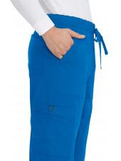 "Pantalon médical Homme Koi ""Luke"", collection ""Koi Basics"" (605-) bleu royal détail"