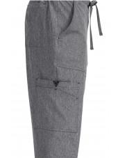 """Pantalon médical Homme Koi """"Luke"""", collection """"Koi Basics"""" (605-) gris chiné détail"""