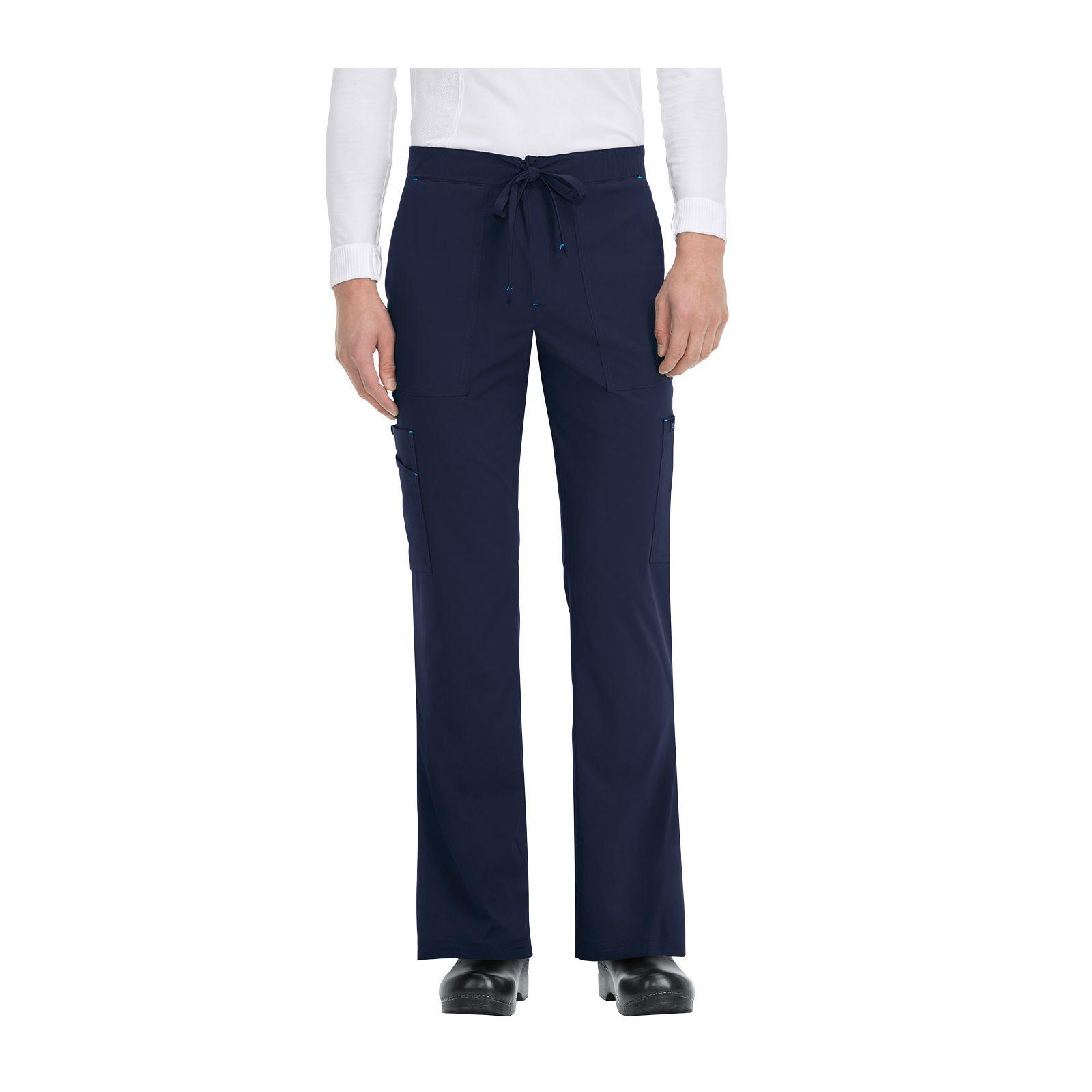 "Pantalon médical Homme Koi ""Luke"", collection ""Koi Basics"" (605-) bleu marine face"