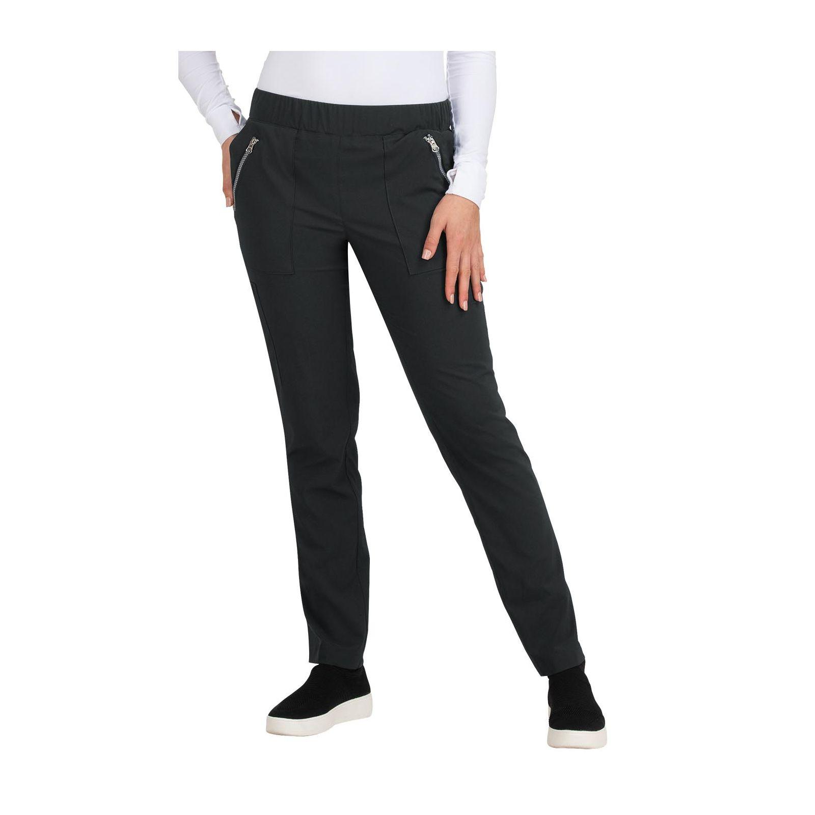"Pantalon médical Femme Koi ""Jane"", collection ""Koi Basics"" (737-) noir face"