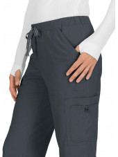 "Pantalon médical Femme Koi ""Holly"", collection ""Koi Basics"" (731-) gris détail"