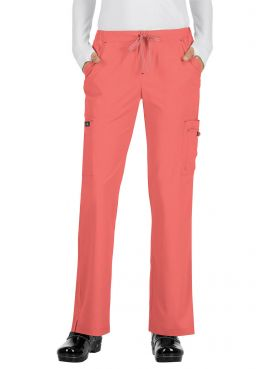 "Pantalon médical Femme Koi ""Holly"", collection ""Koi Basics"" (731-) corail face"