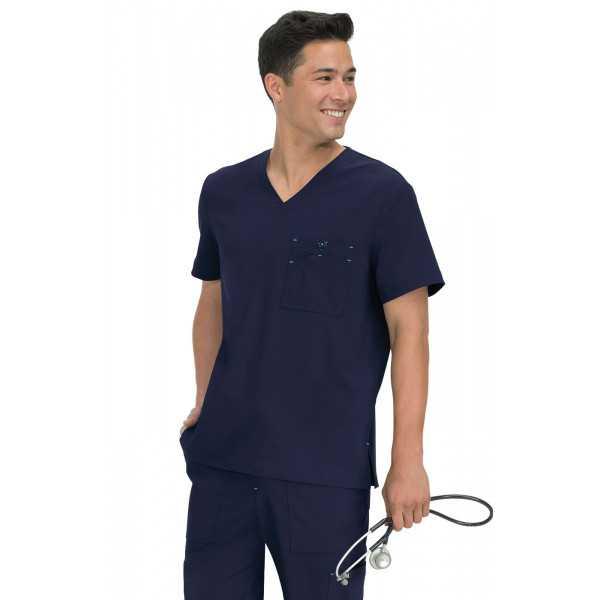 "Blouse médicale Homme Koi ""Bryan"", collection ""Koi Basics"" (668-) bleu marine vue face"