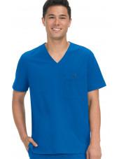 "Blouse médicale Homme Koi ""Bryan"", collection ""Koi Basics"" (668-) bleu royal vue face"