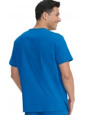 "Blouse médicale Homme Koi ""Bryan"", collection ""Koi Basics"" (668-) bleu royal vue dos"