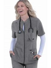 """Blouse médicale Femme Koi """"Madison"""", collection Koi Basics (1023-) gis chiné vue coté"""