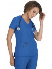 "Blouse médicale Femme Koi ""Becca"", collection ""Koi Basics"" (373-) bleu royal vue face"