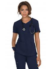 "Blouse médicale Femme ""Katie"" Koi, collection ""Koi Basics"" (374-) bleu marine vue face"