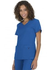 "Blouse médicale Femme ""Katie"" Koi, collection ""Koi Basics"" (374-) bleu royal vue face"