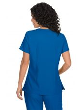 "Blouse médicale Femme ""Katie"" Koi, collection ""Koi Basics"" (374-) bleu royal vue dos"
