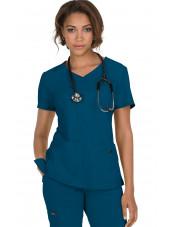 "Blouse médicale Femme ""Katie"" Koi, collection ""Koi Basics"" (374-) vert caraibe vue face"