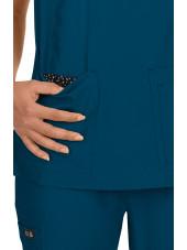 "Blouse médicale Femme ""Katie"" Koi, collection ""Koi Basics"" (374-) vert caraibe vue poche"