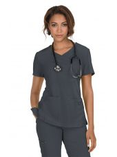 "Blouse médicale Femme ""Katie"" Koi, collection ""Koi Basics"" (374-) gris anthracite vue face"