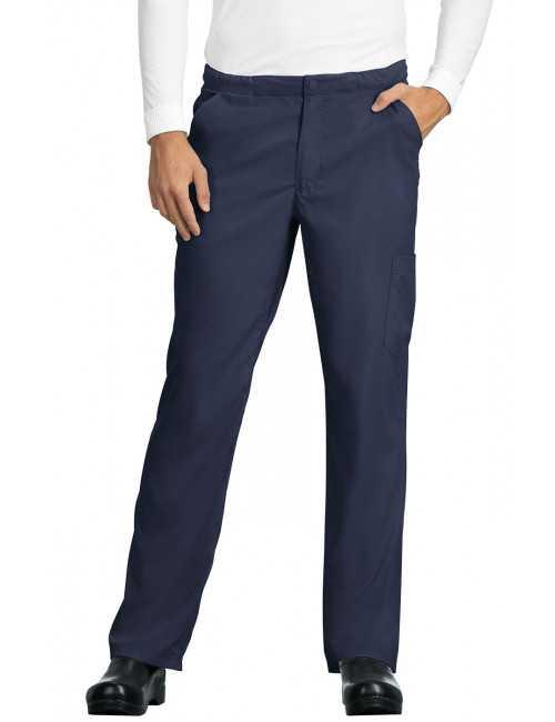 "Pantalon médical Homme Koi ""Discovery"", collection ""Koi Lite"" (606-) bleu marine face"
