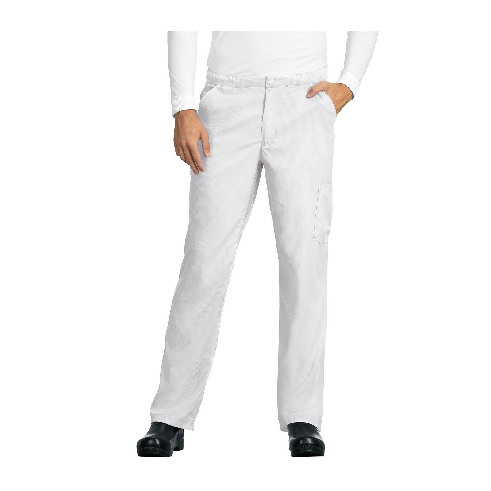 "Pantalon médical Homme Koi ""Discovery"", collection ""Koi Lite"" (606-) blanc face"