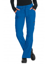 "Pantalon médical Femme Koi ""Peace"", collection ""Koi Lite"" (721-) bleu royal face"
