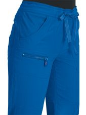 "Pantalon médical Femme Koi ""Peace"", collection ""Koi Lite"" (721-) bleu royal détail"