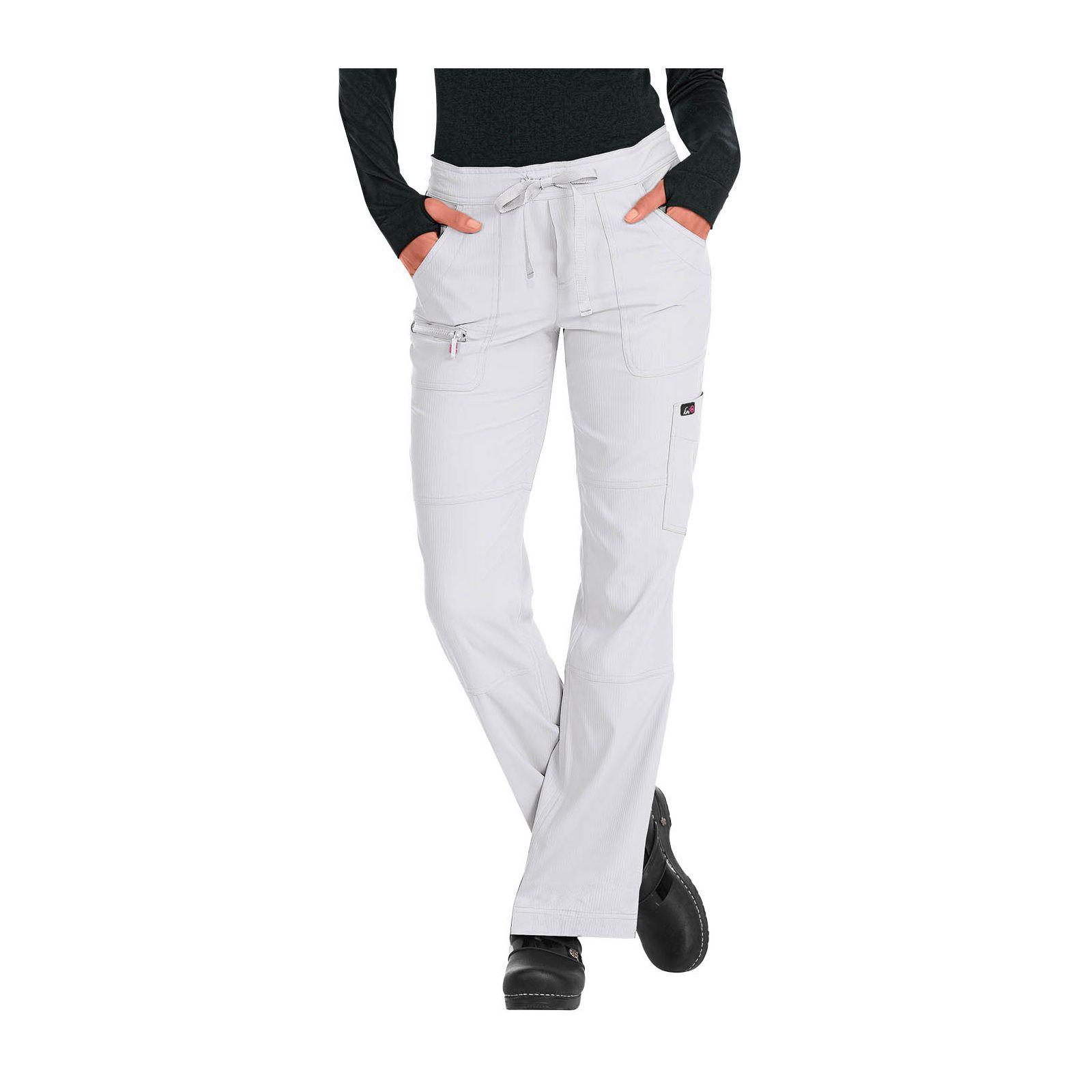 "Pantalon médical Femme Koi ""Peace"", collection ""Koi Lite"" (721-) blanc face"