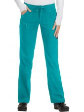 "Pantalon médical Femme Koi ""Peace"", collection ""Koi Lite"" (721-) teal face"
