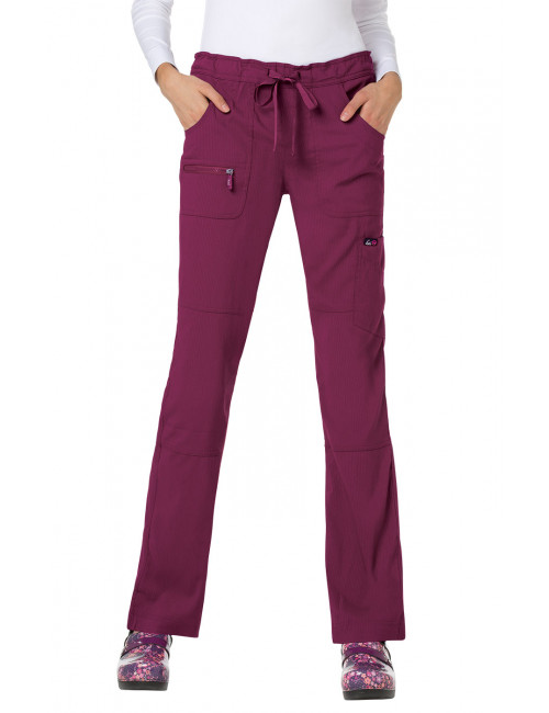 "Pantalon médical Femme Koi ""Peace"", collection ""Koi Lite"" (721-) bordeaux face"