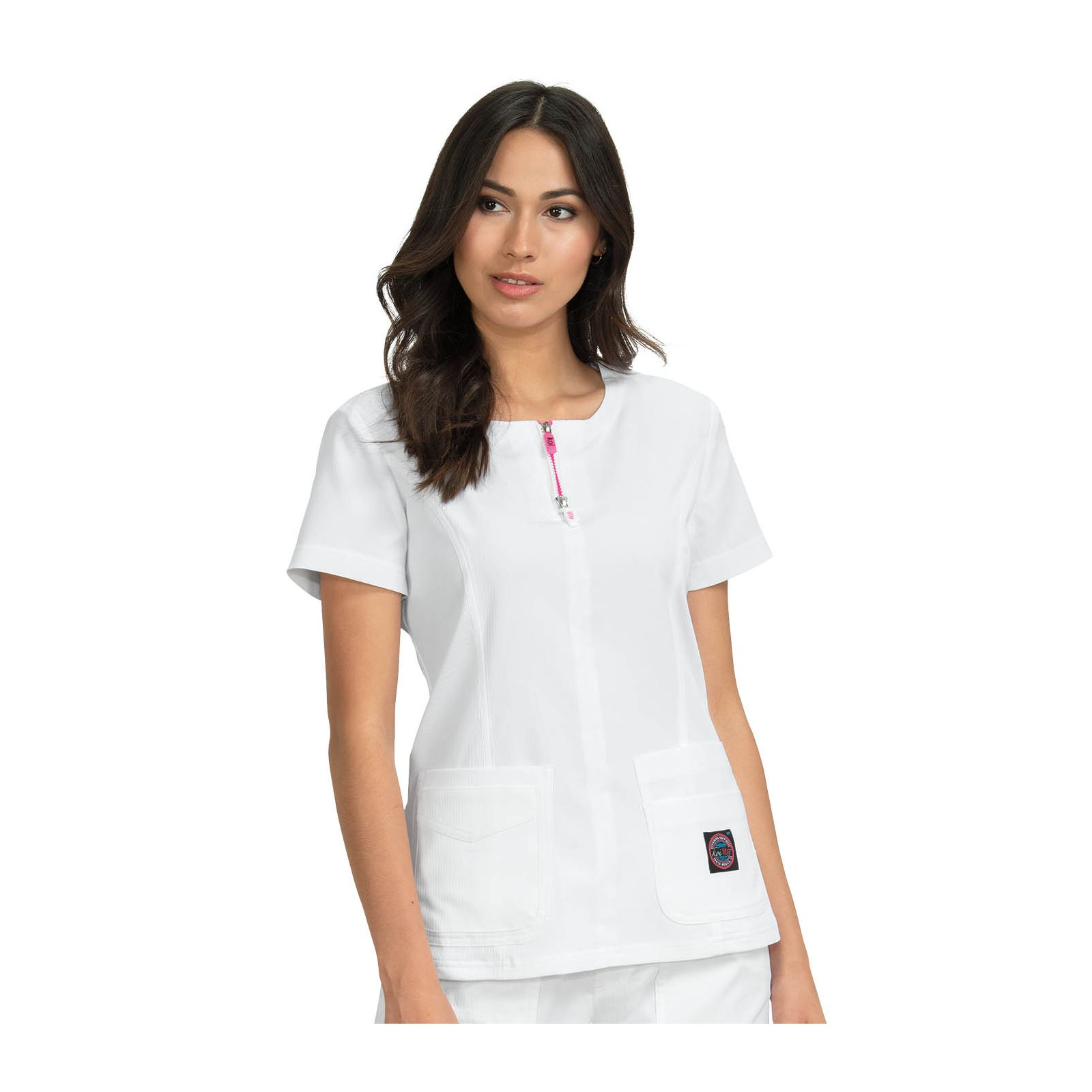 "Blouse médicale Femme Koi ""Serenity"", collection Koi Lite (317-) blanc vue face"