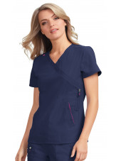 "Blouse médicale Femme Koi ""Philosophy"", collection ""Koi Lite"" (316-) bleu marine face"