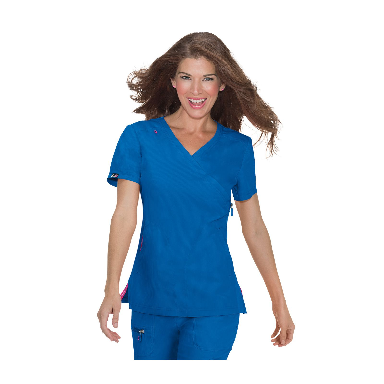 "Blouse médicale Femme Koi ""Philosophy"", collection ""Koi Lite"" (316-) bleu royal vue face"