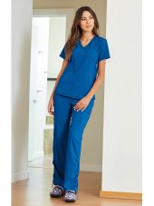 "Blouse médicale Femme Koi ""Philosophy"", collection ""Koi Lite"" (316-) bleu royal vue modele"