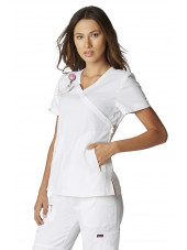 "Blouse médicale Femme Koi ""Philosophy"", collection ""Koi Lite"" (316-) blanc vue face"