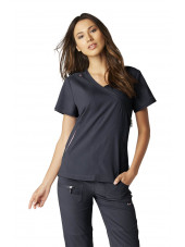"Blouse médicale Femme Koi ""Philosophy"", collection ""Koi Lite"" (316-) gris anthracite vue face"