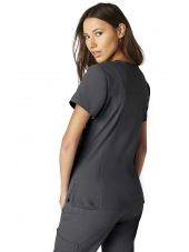 "Blouse médicale Femme Koi ""Philosophy"", collection ""Koi Lite"" (316-) gris anthracite vue dos"
