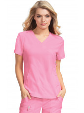 "Blouse médicale Femme Koi ""Philosophy"", collection ""Koi Lite"" (316-) rose vue face"