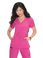 "Blouse médicale Femme Koi ""Philosophy"", collection ""Koi Lite"" (316-) rose face"