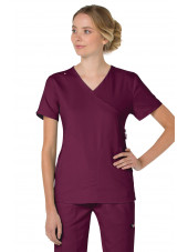 "Blouse médicale Femme Koi ""Philosophy"", collection ""Koi Lite"" (316-) bordeaux face"