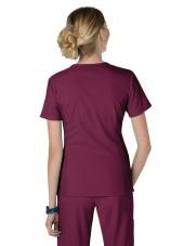 "Blouse médicale Femme Koi ""Philosophy"", collection ""Koi Lite"" (316-) bordeaux dos"