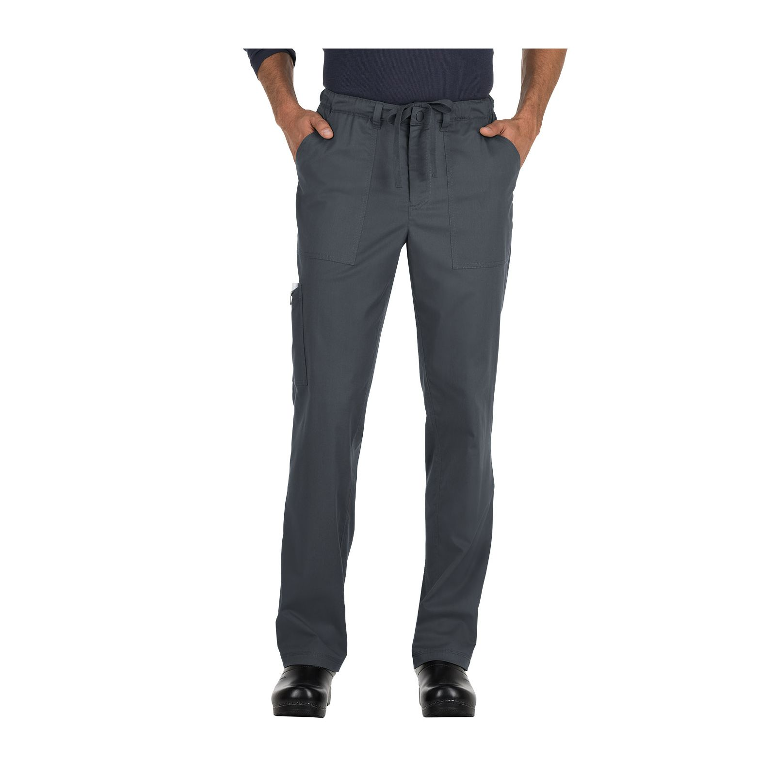 "Pantalon médical Homme Koi ""Ryan"", collection ""Koi Stretch"" (604-) gris anthracite face"