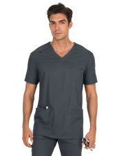 """Blouse médicale Homme Koi """"Tyler"""", collection """"Koi Stretch"""" (665-) gris anthracite face"""